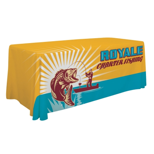 6 or 8 dye sublimated table throw